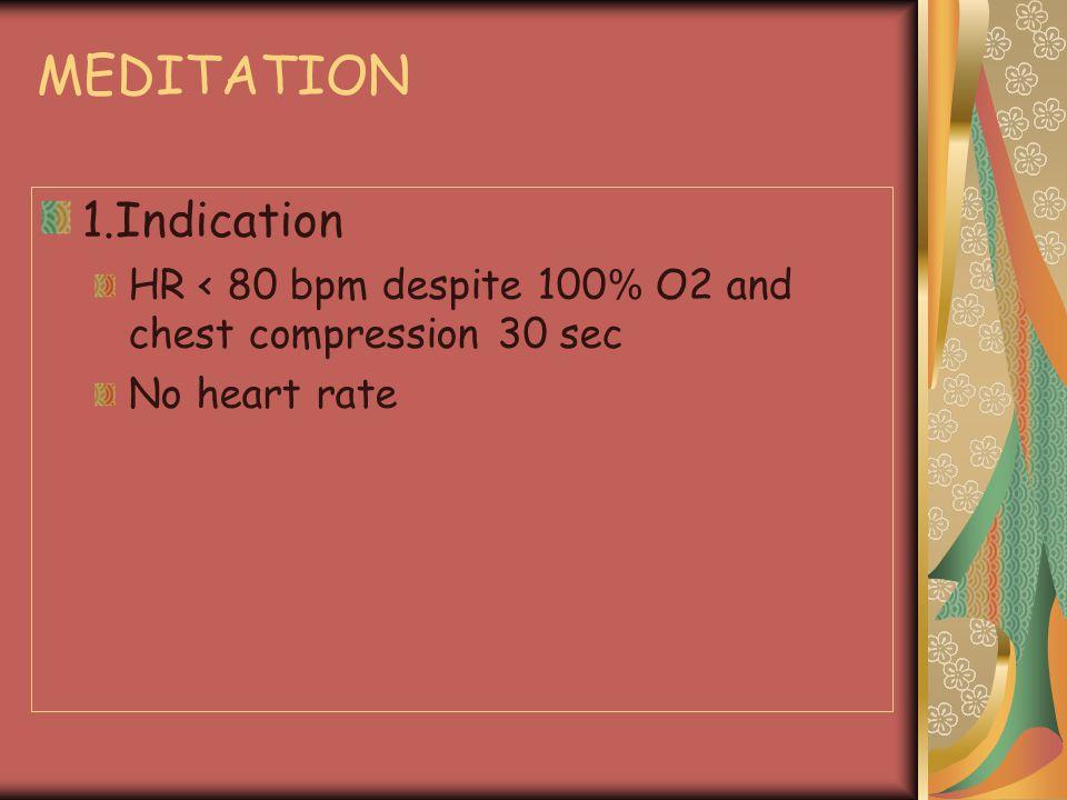 MEDITATION 1.Indication