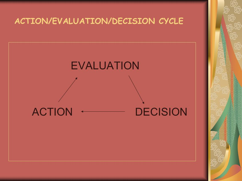 ACTION/EVALUATION/DECISION CYCLE