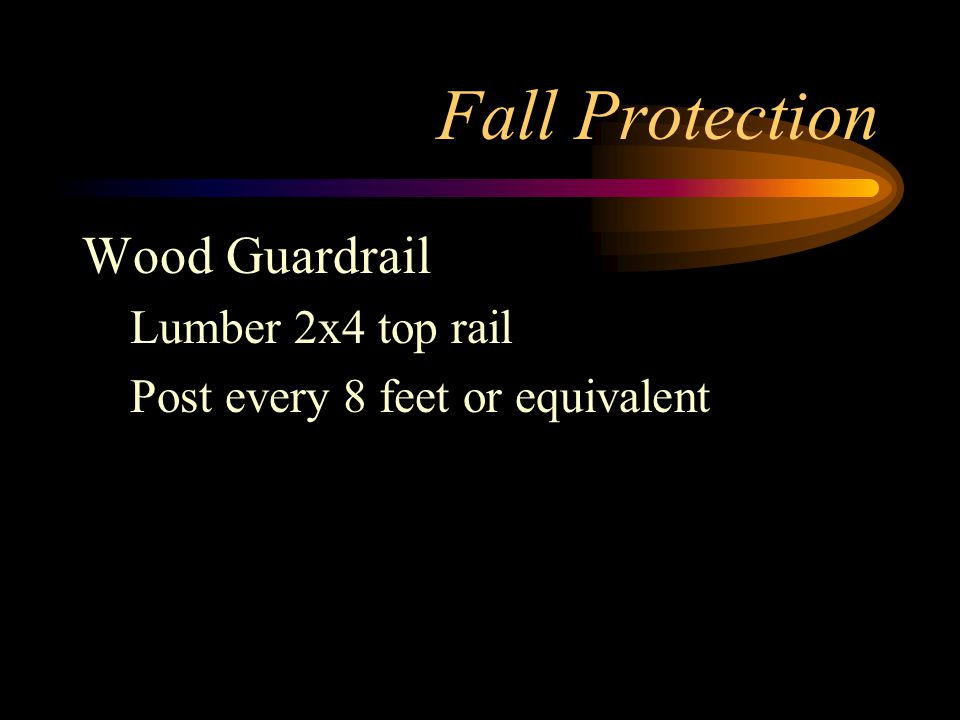 Fall Protection Wood Guardrail Lumber 2x4 top rail