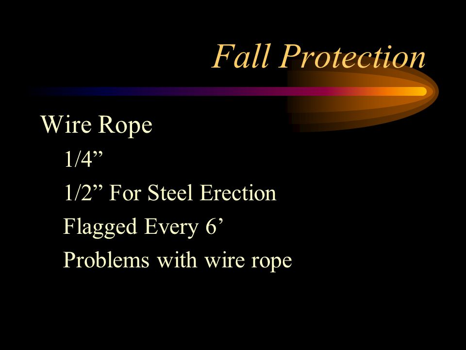 Fall Protection Wire Rope 1/4 1/2 For Steel Erection