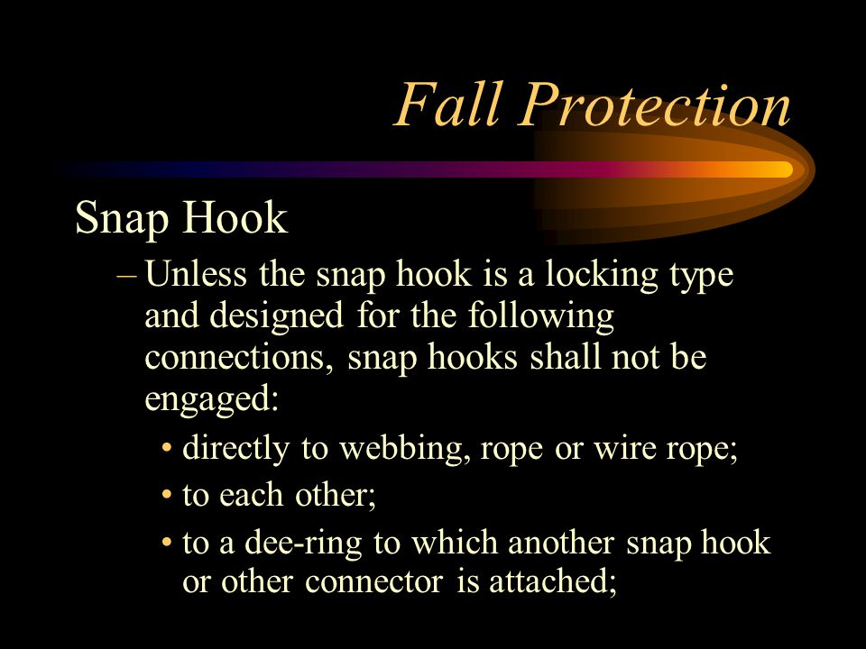 Fall Protection Snap Hook