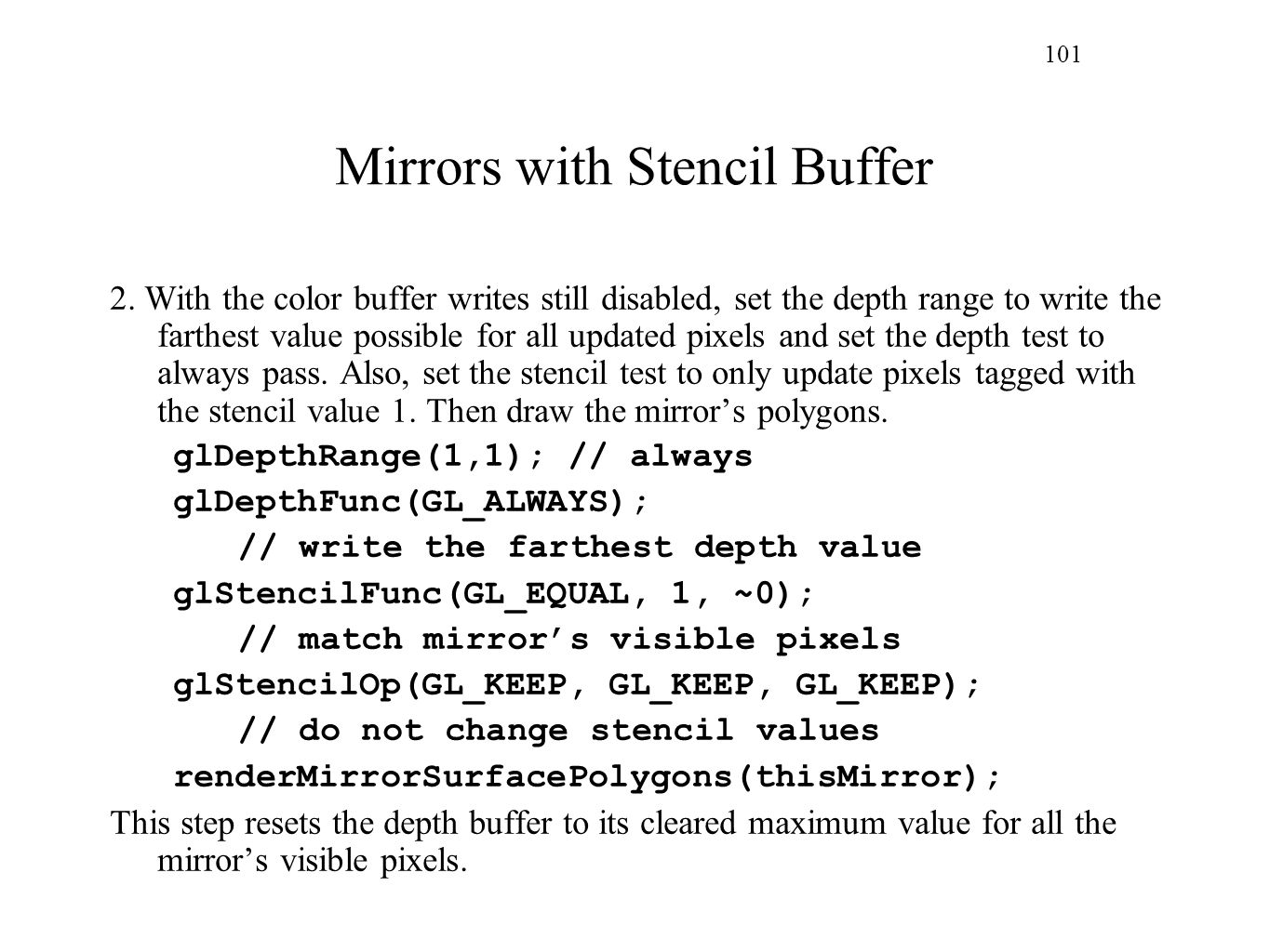 Mirrors with Stencil Buffer