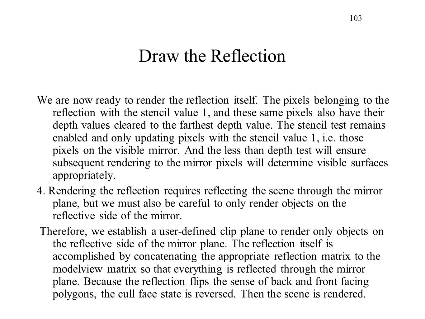 103 Draw the Reflection.