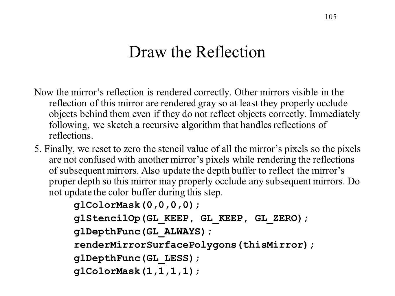 105 Draw the Reflection.
