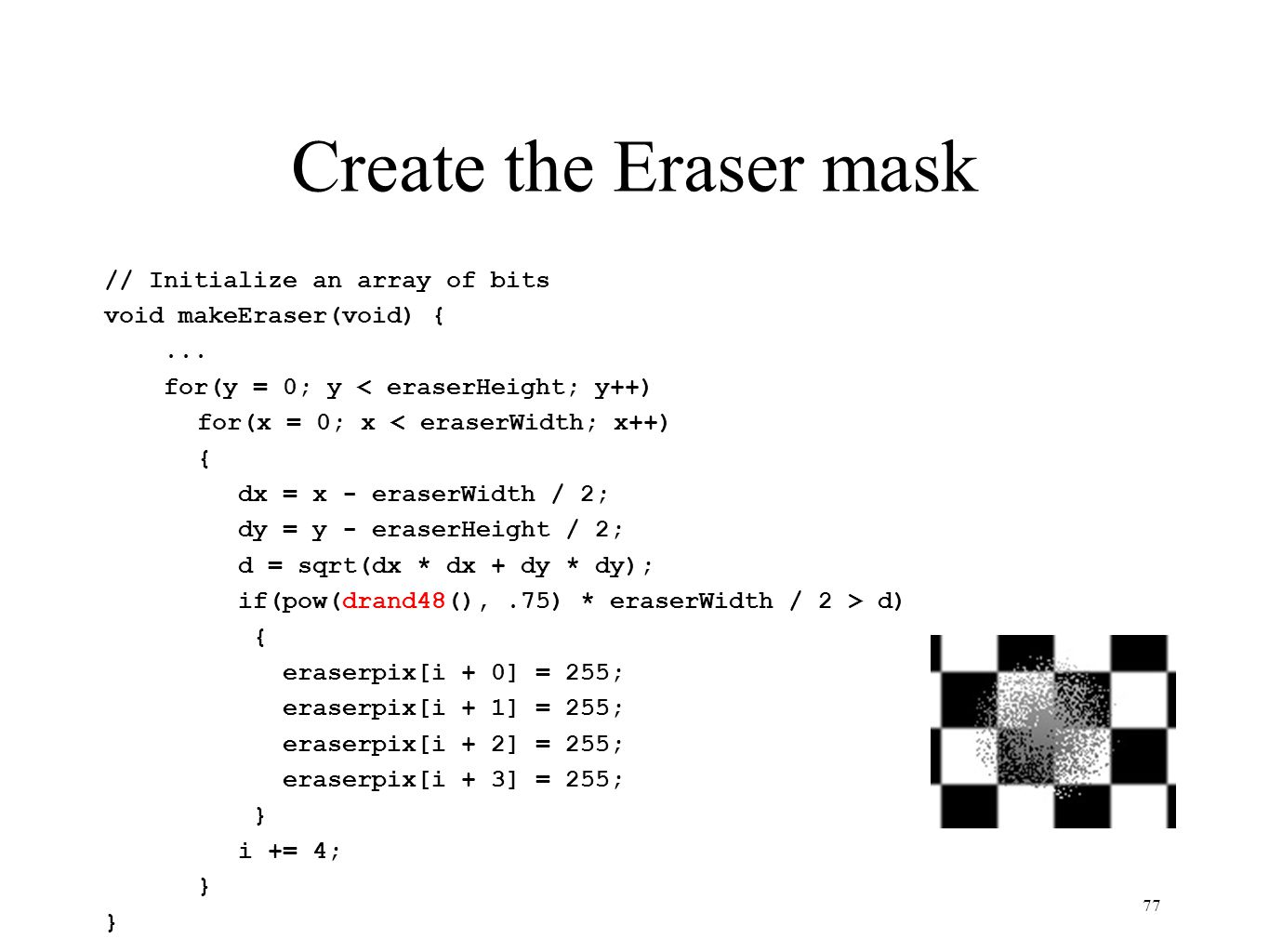 Create the Eraser mask