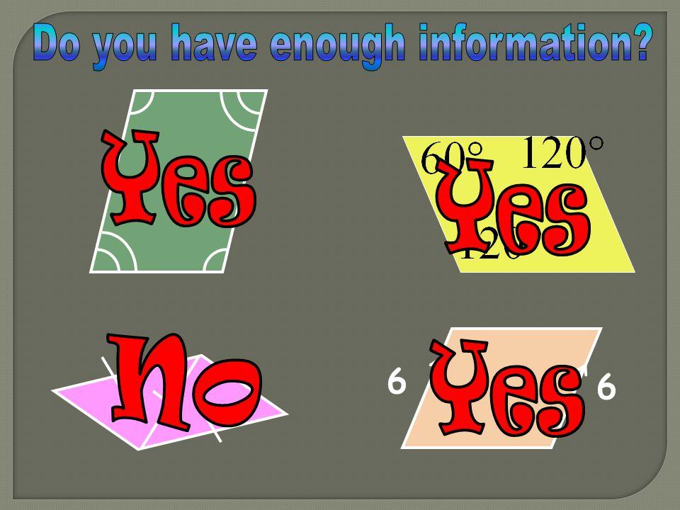 Do you have enough information