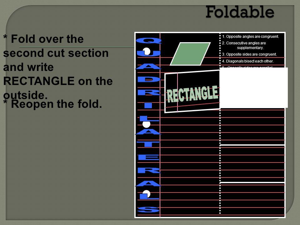 Foldable QUADRILATERALS RECTANGLE