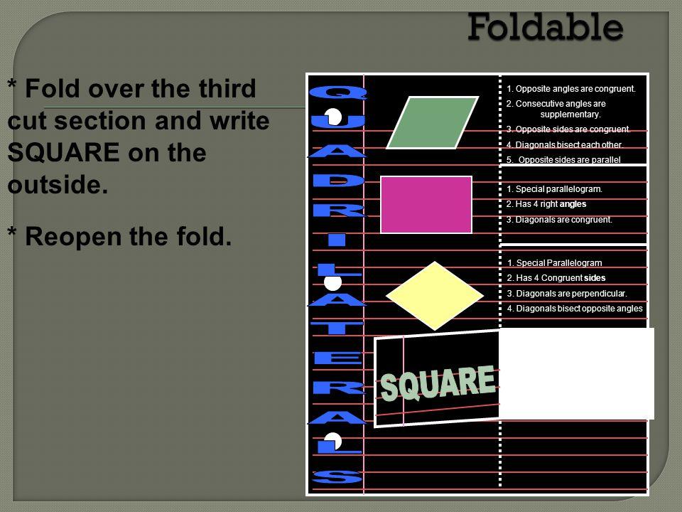 Foldable QUADRILATERALS SQUARE