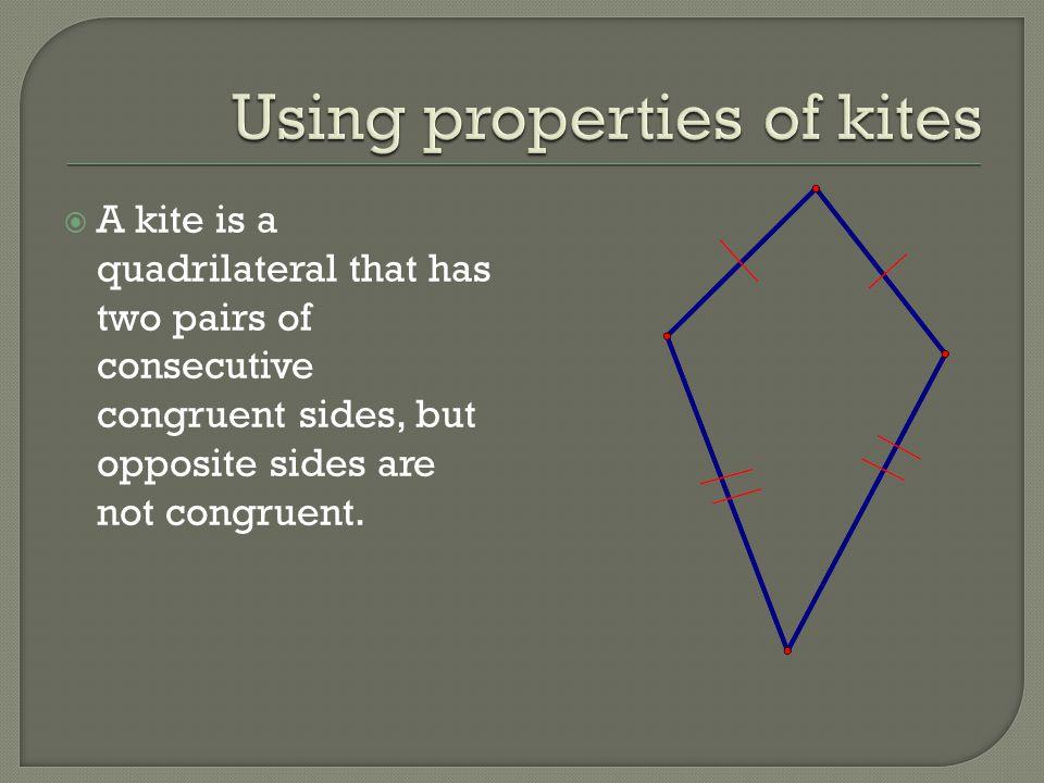 Using properties of kites