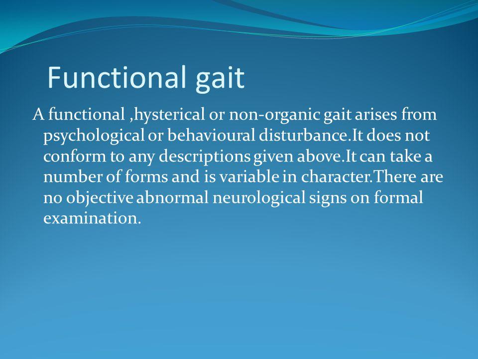 Functional gait