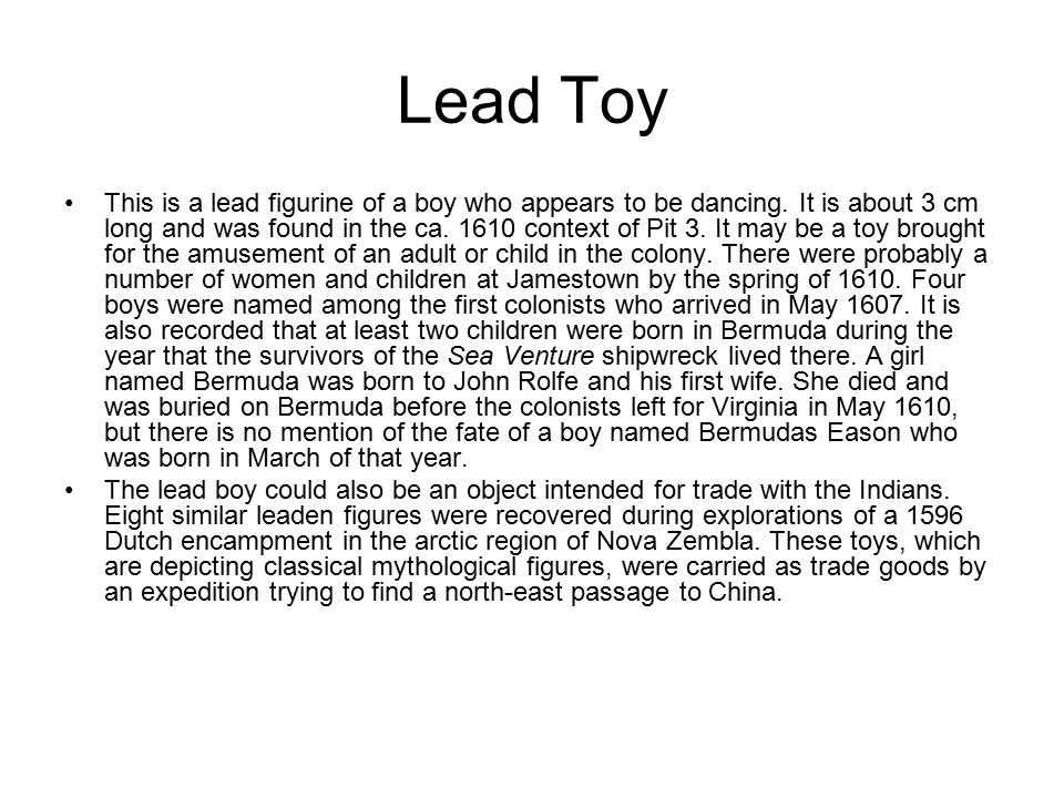 Lead Toy