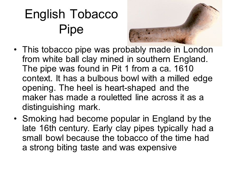 English Tobacco Pipe