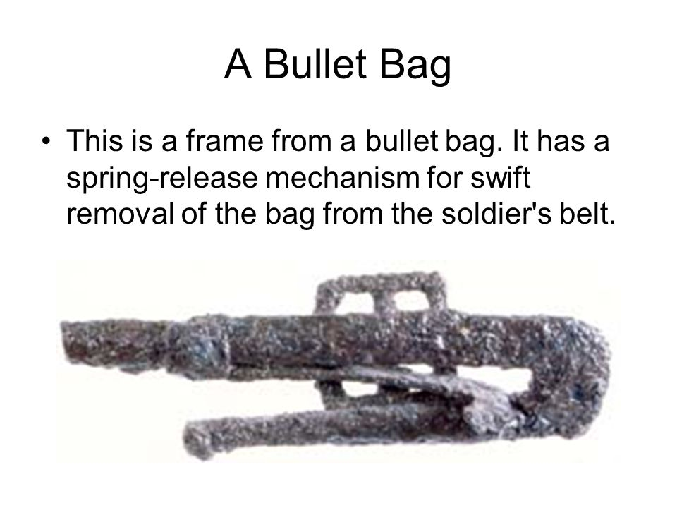 A Bullet Bag This is a frame from a bullet bag.