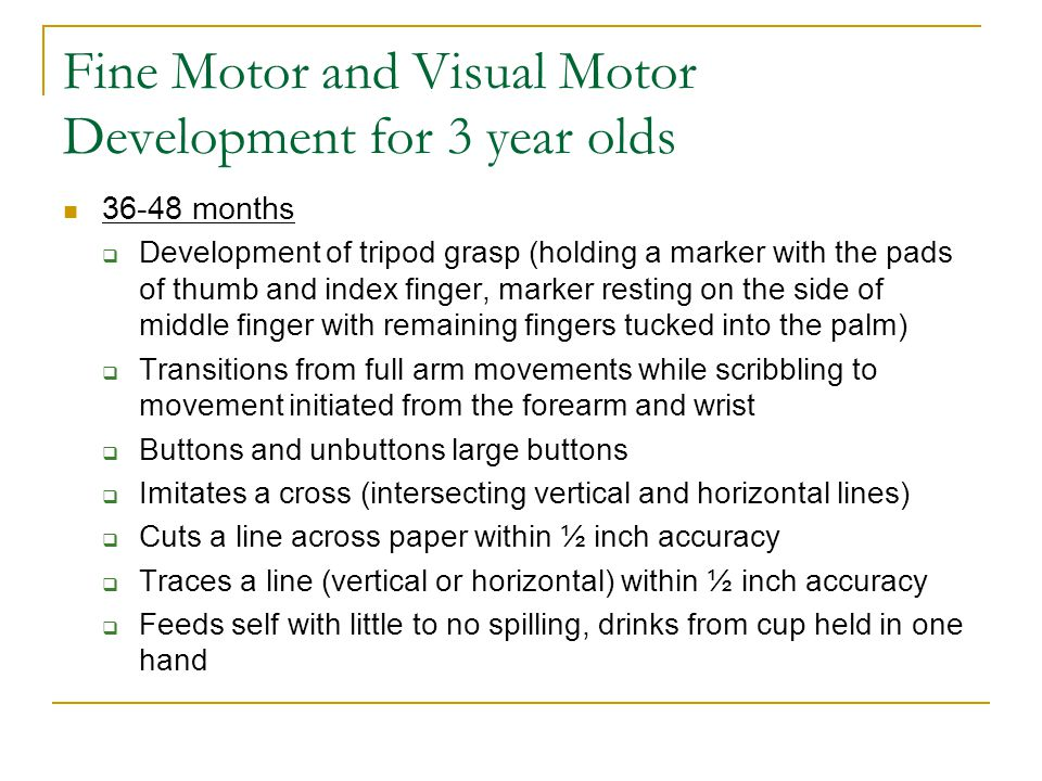 Fine Motor and Visual Motor Development for 3 year olds