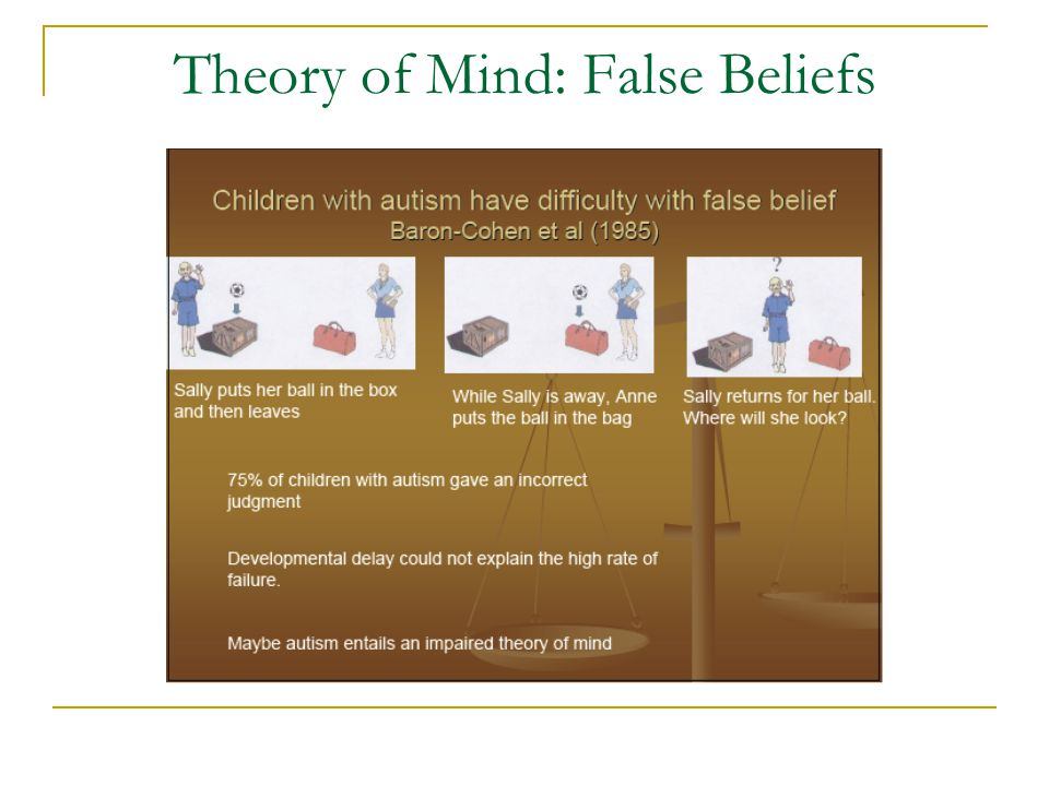 Theory of Mind: False Beliefs