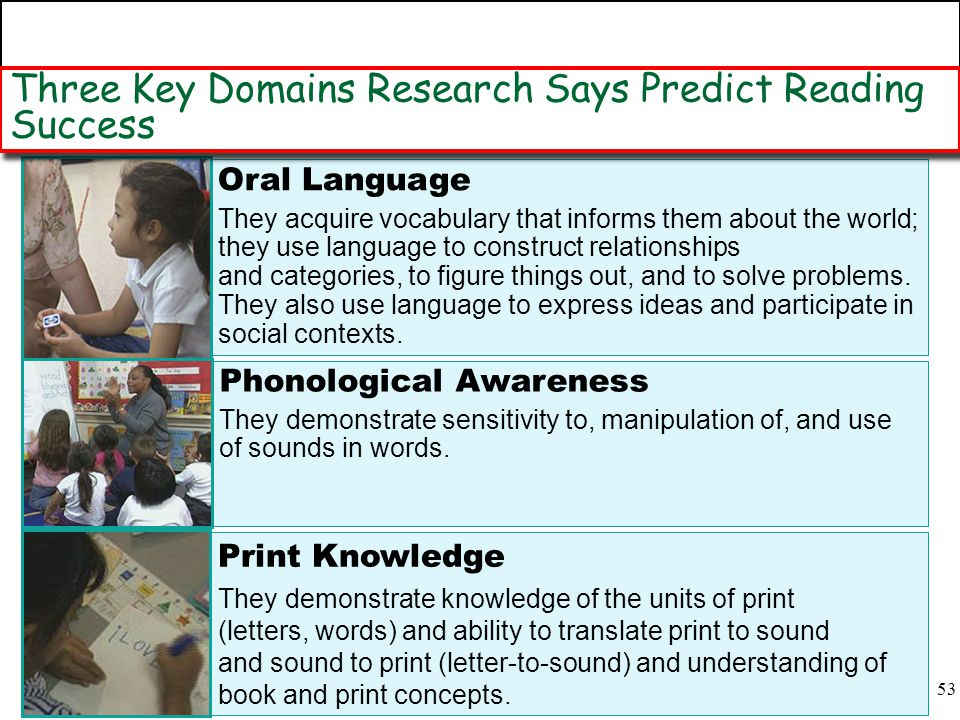 Three Key Domains Research Says Predict Reading Success