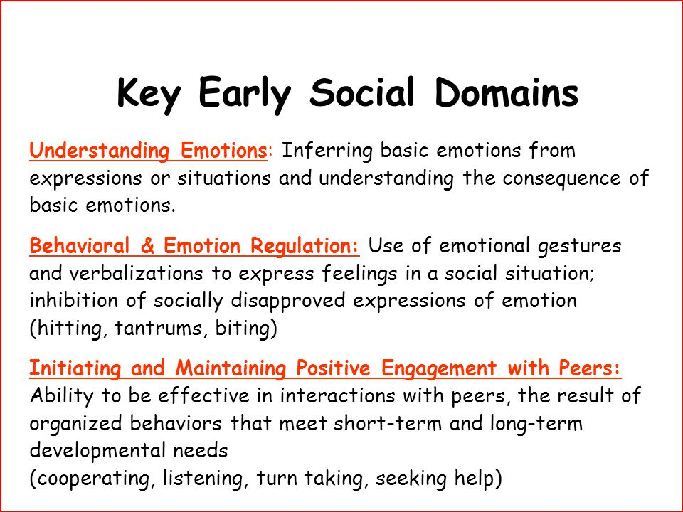 Key Early Social Domains