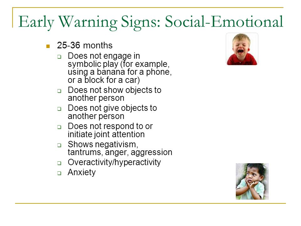 Early Warning Signs: Social-Emotional