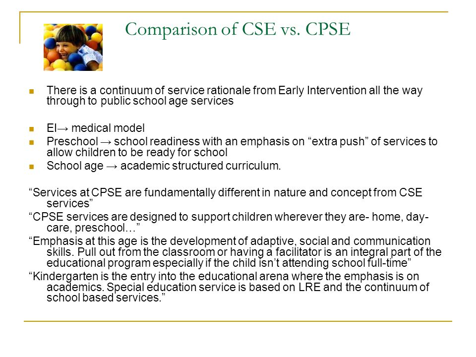 Comparison of CSE vs. CPSE