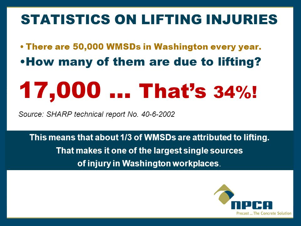STATISTICS ON LIFTING INJURIES