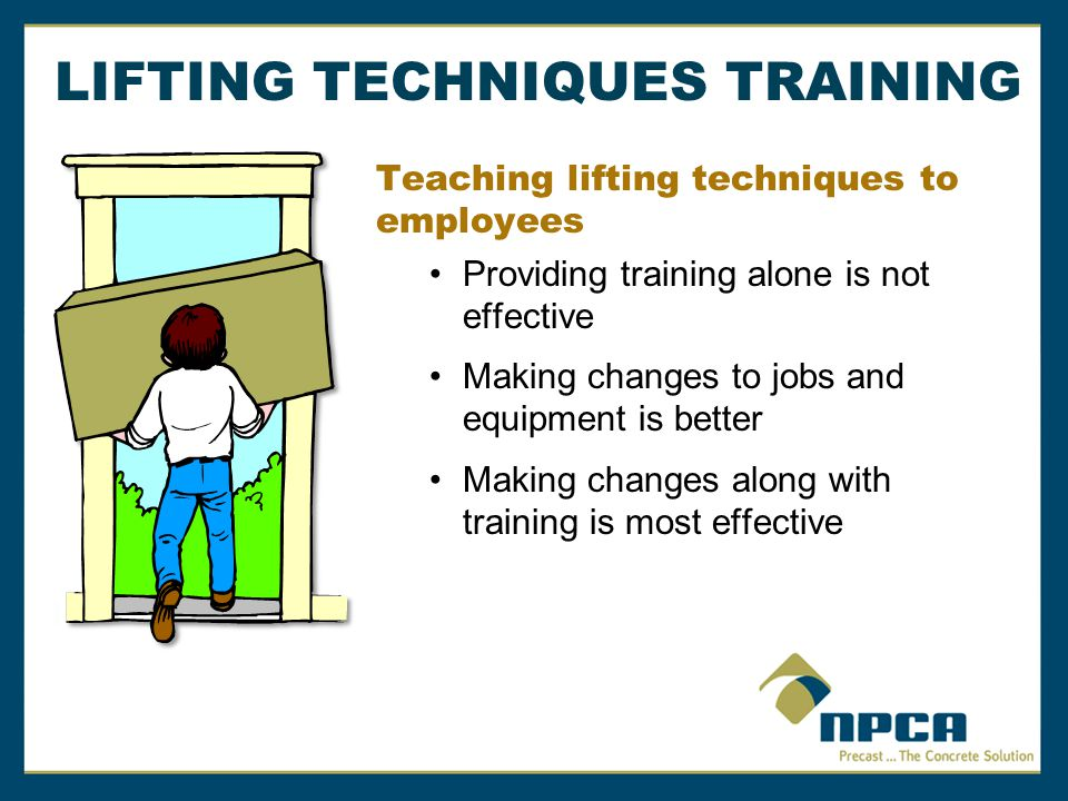 LIFTING TECHNIQUES TRAINING