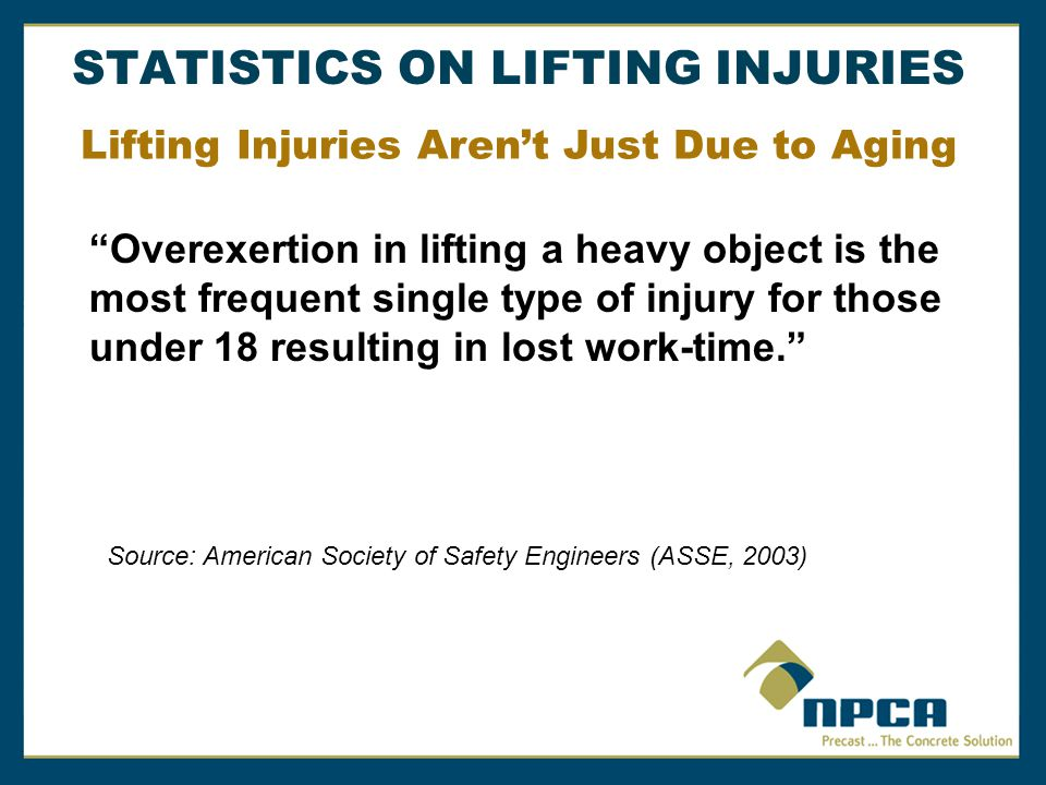 Lifting Injuries Aren't Just Due to Aging