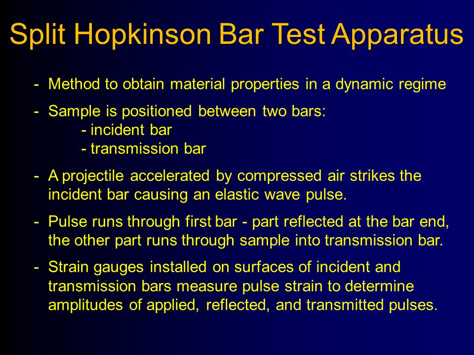 Split Hopkinson Bar Test Apparatus