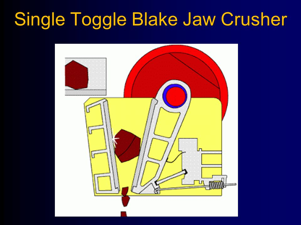 Single Toggle Blake Jaw Crusher