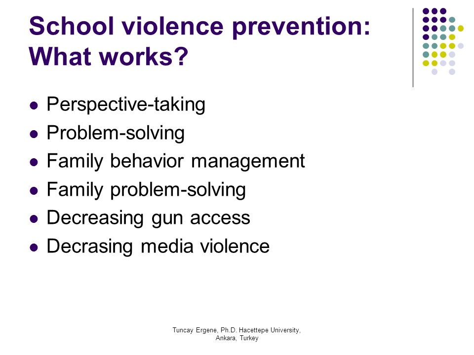 School violence prevention: What works