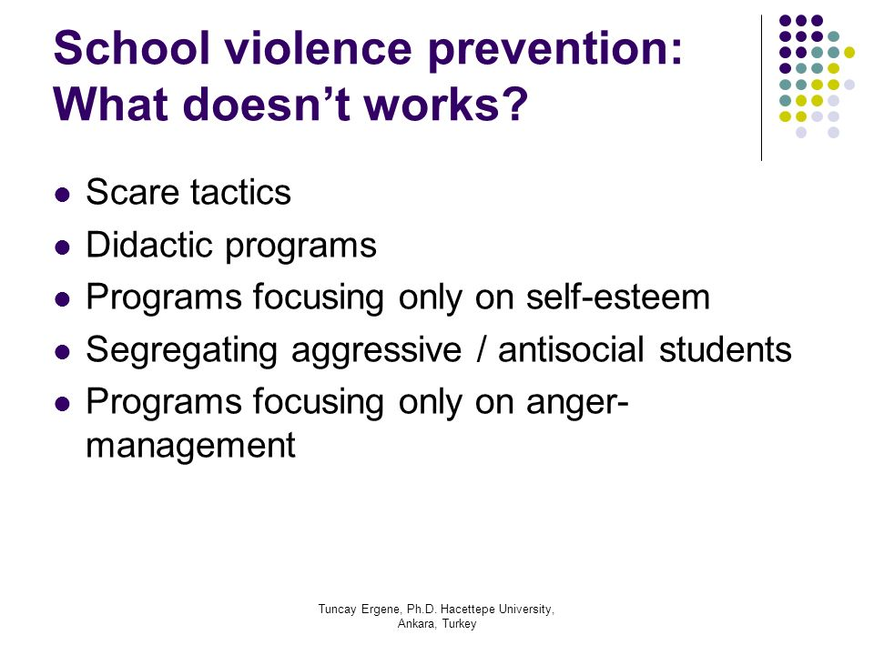 School violence prevention: What doesn't works