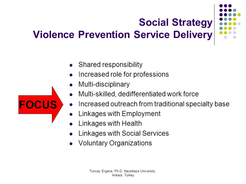 Social Strategy Violence Prevention Service Delivery