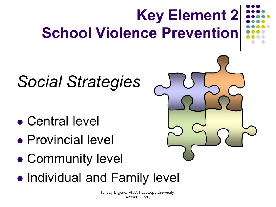 Key Element 2 School Violence Prevention