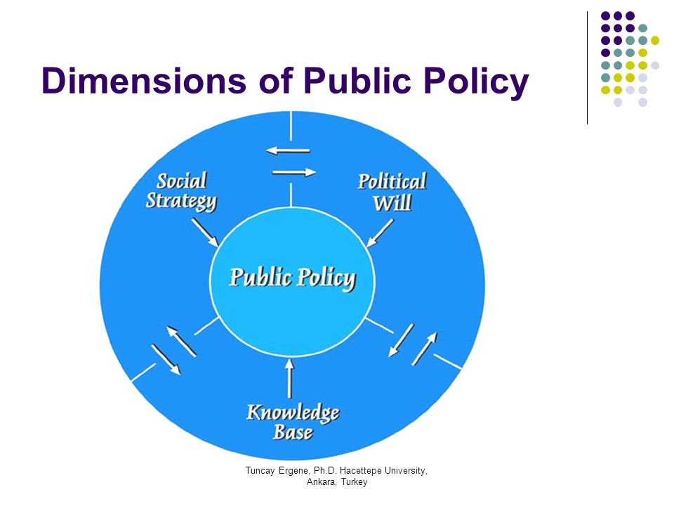 Dimensions of Public Policy
