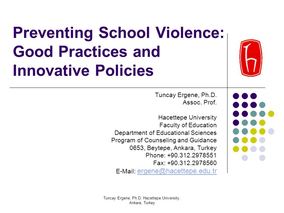 Preventing School Violence: Good Practices and Innovative Policies