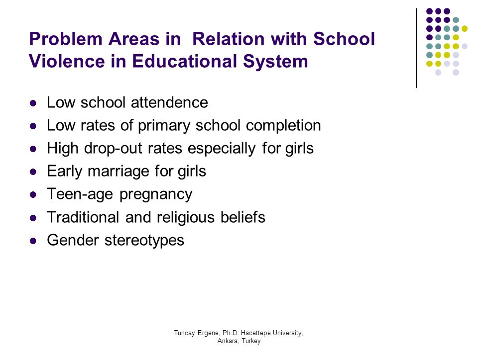 Problem Areas in Relation with School Violence in Educational System