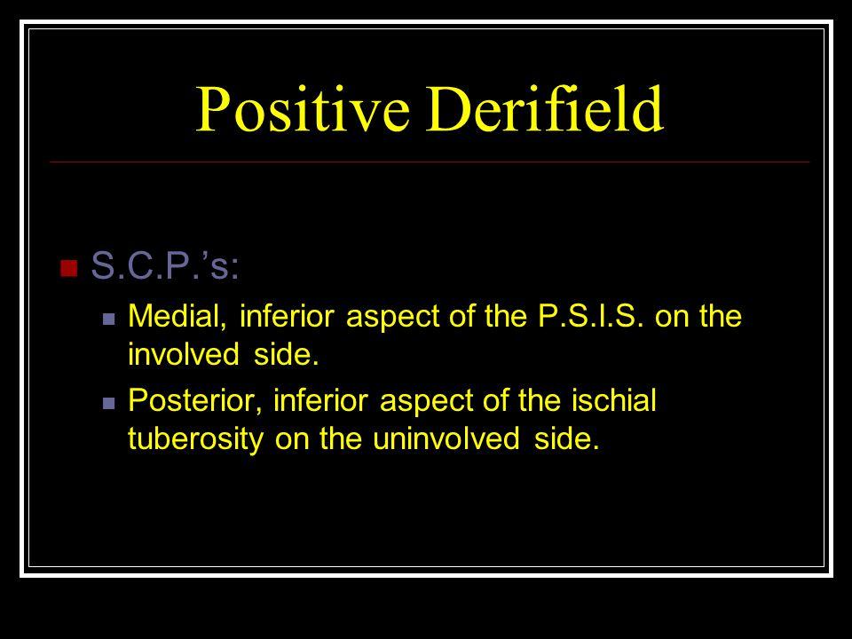 Positive Derifield S.C.P.'s: