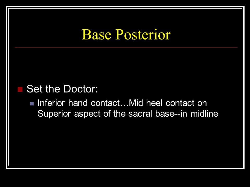 Base Posterior Set the Doctor:
