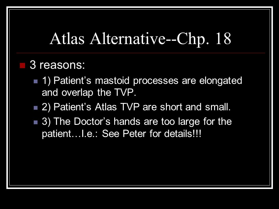 Atlas Alternative--Chp. 18