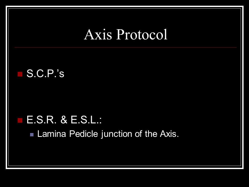 Axis Protocol S.C.P.'s E.S.R. & E.S.L.: