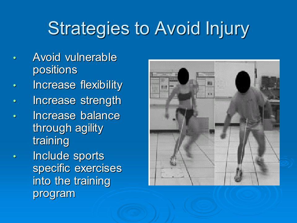 Strategies to Avoid Injury