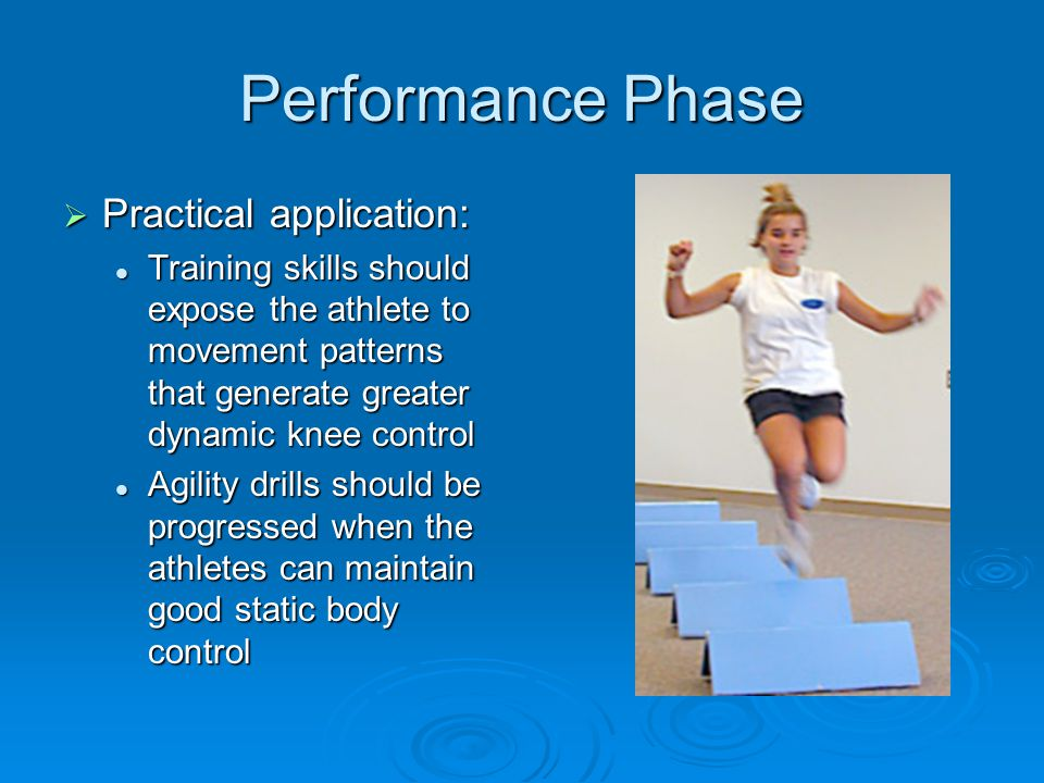 Performance Phase Practical application: