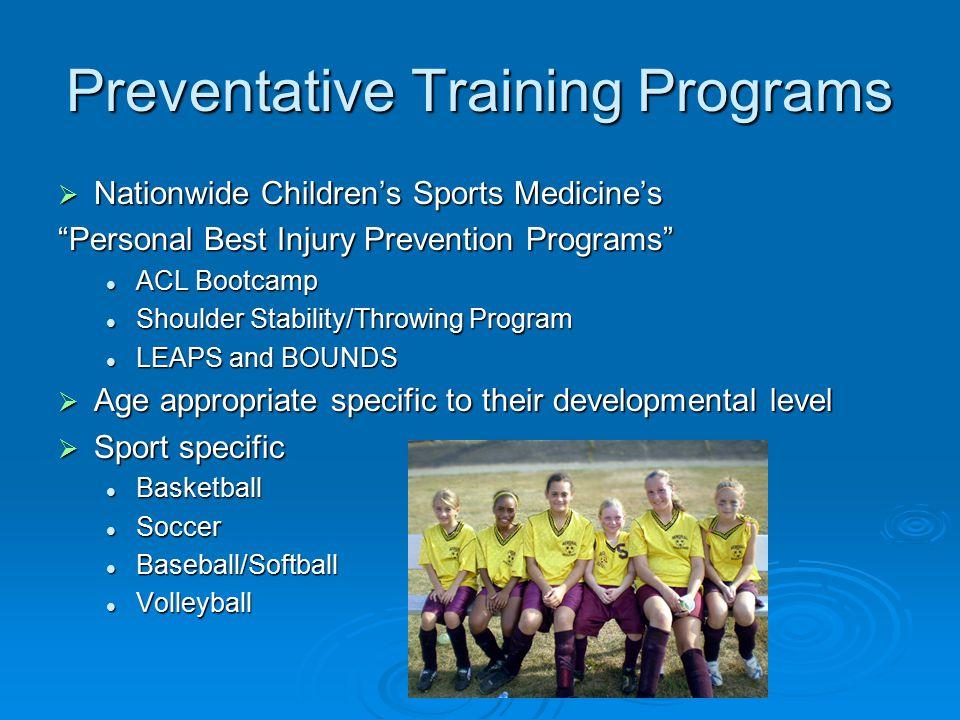 Preventative Training Programs