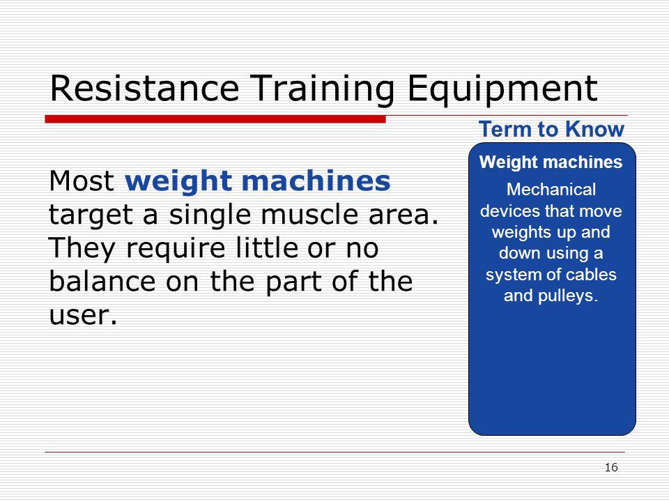 Resistance Training Equipment