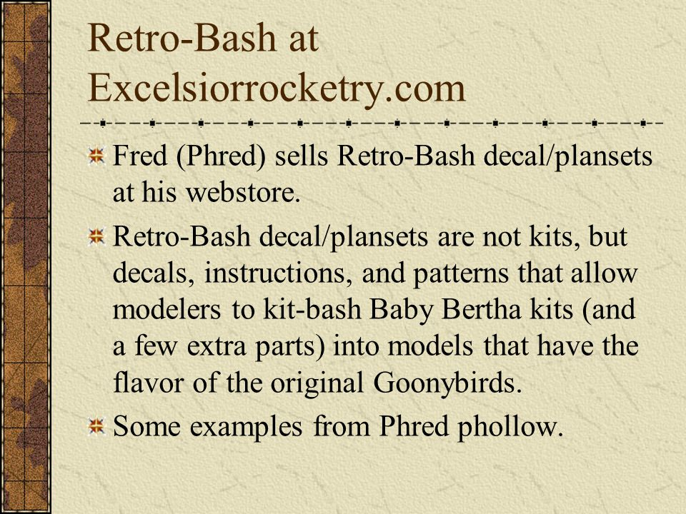 Retro-Bash at Excelsiorrocketry.com