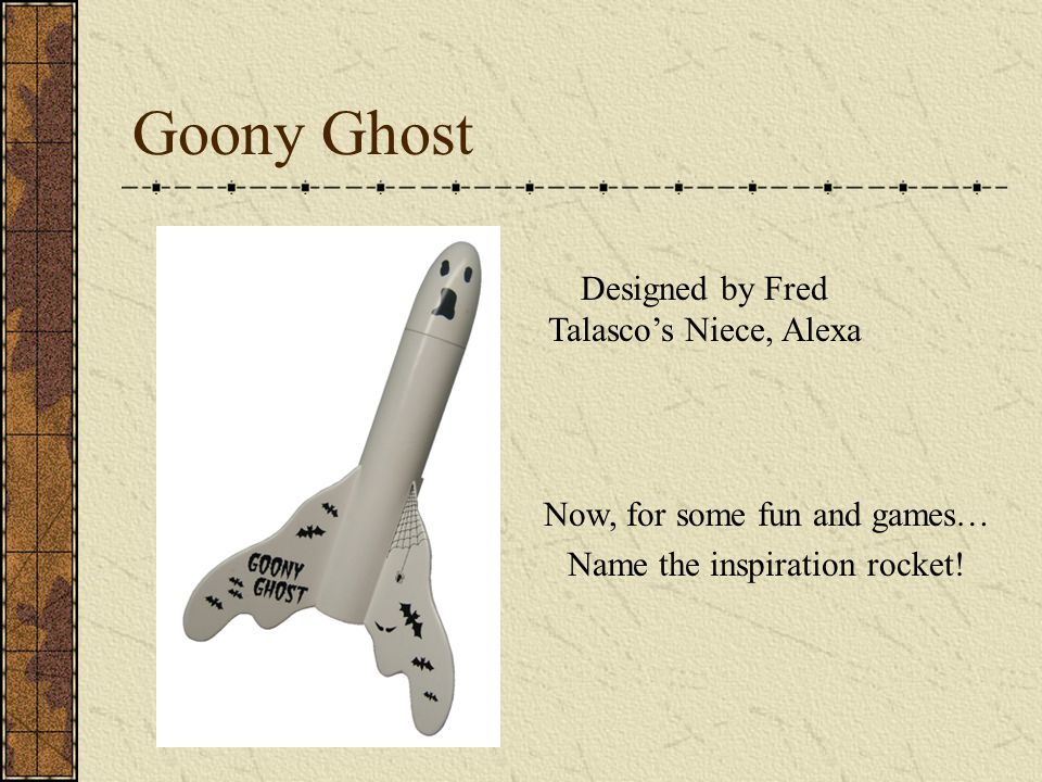 Goony Ghost Designed by Fred Talasco's Niece, Alexa