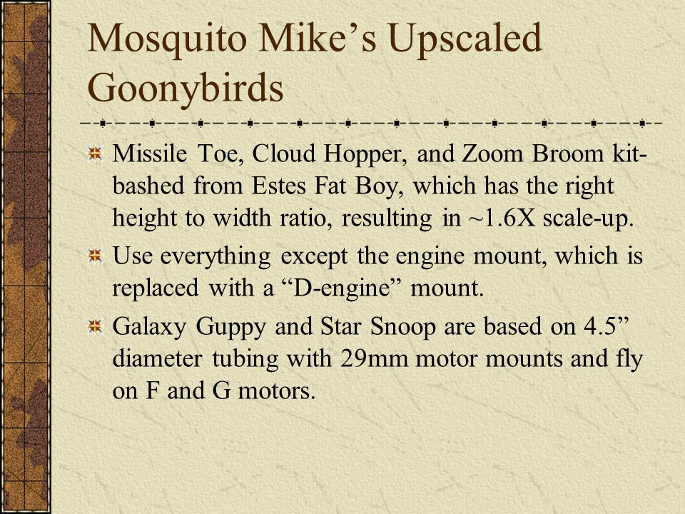 Mosquito Mike's Upscaled Goonybirds