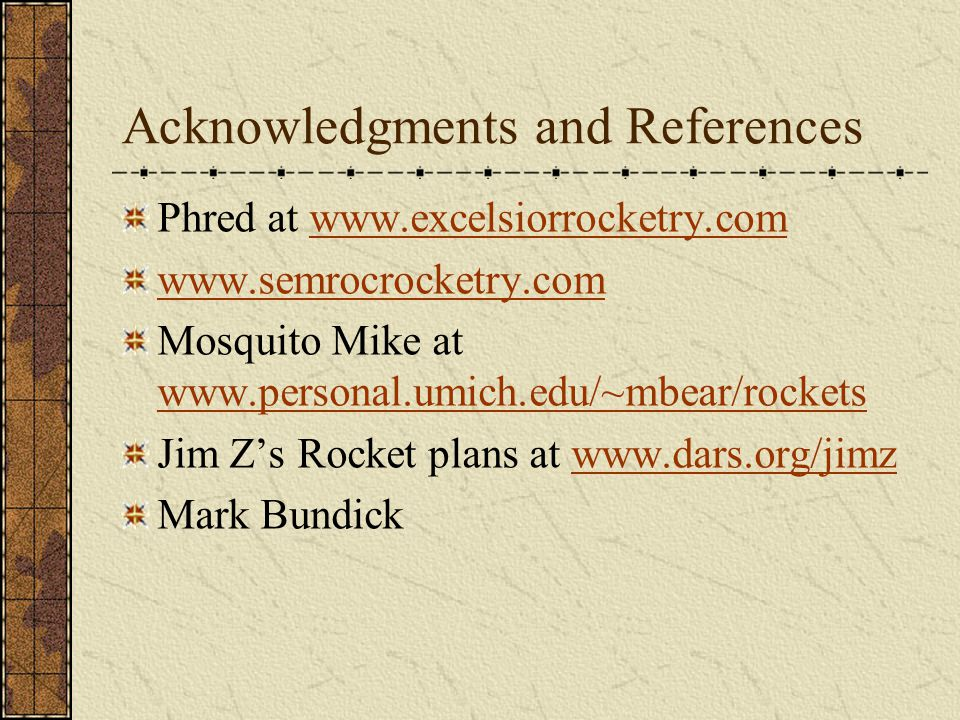 Acknowledgments and References