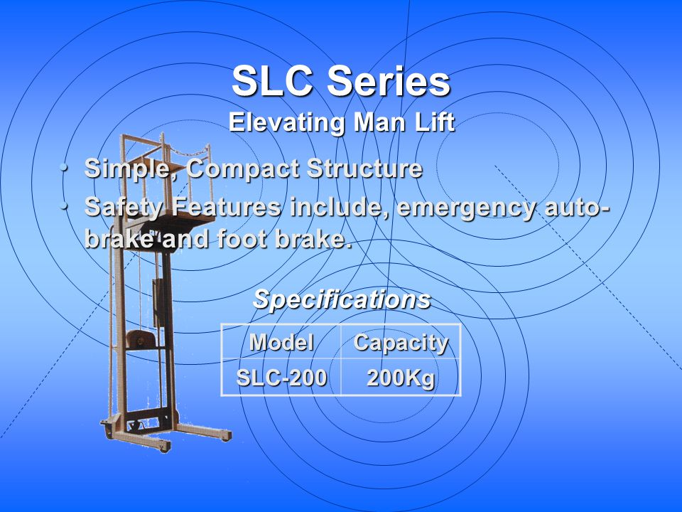 SLC Series Elevating Man Lift Simple, Compact Structure