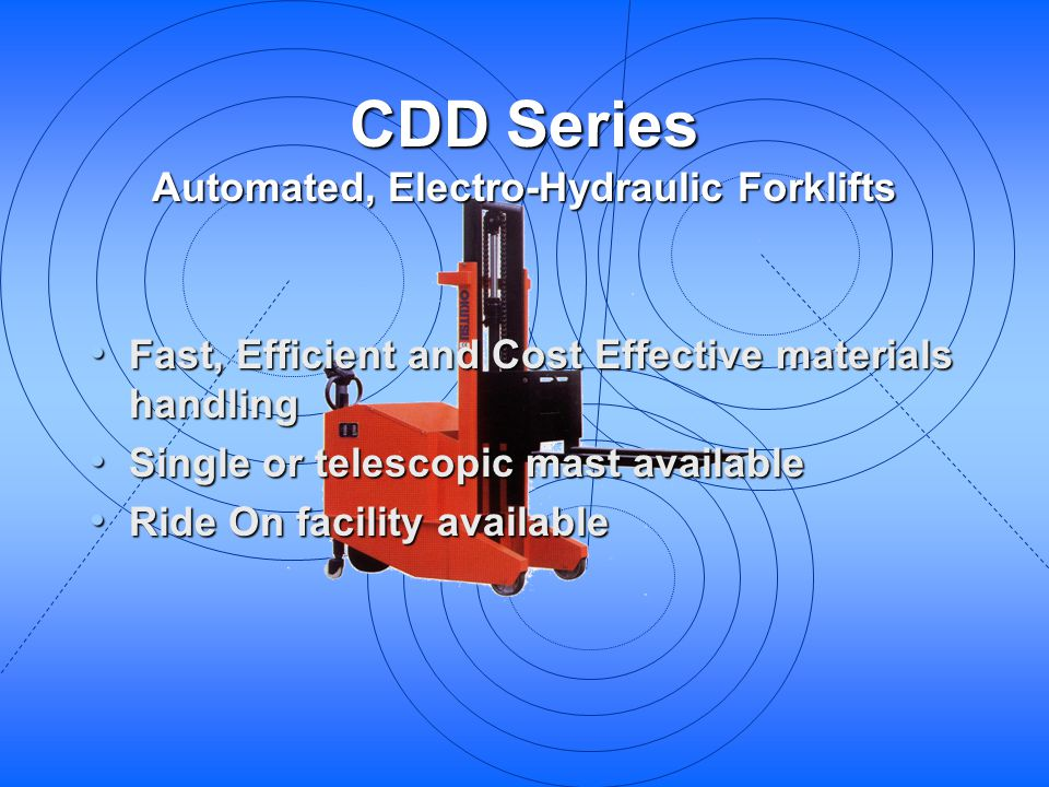 Automated, Electro-Hydraulic Forklifts