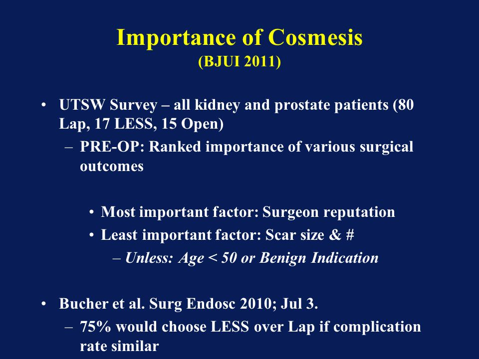 Importance of Cosmesis (BJUI 2011)